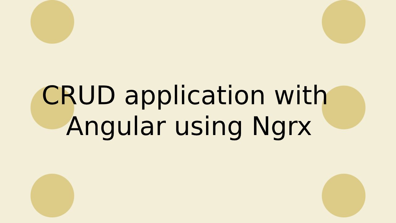 CRUD app with Angular and NGRX